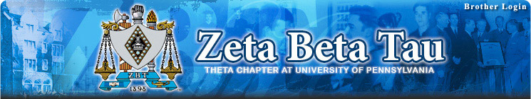 Zeta Beta Tau Fraternity - Theta Chapter at the University of Pennsylvania, Philadelphia